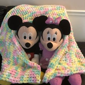 New HANDMADE croqueted Baby Blanket or Throw